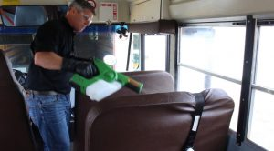 Bus Disinfection Spraying