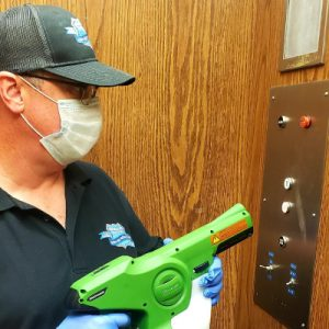 Elevator-Disinfection and Antimicrobial Treatments